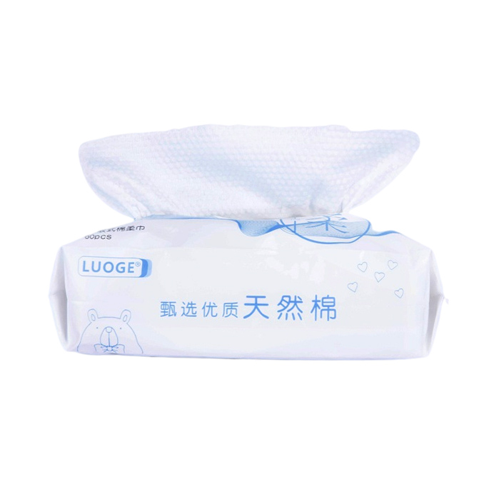 Wholesale Factory Customized Disposable Removable Cleansing Towel Thick Non-Woven 100% Cotton Soft Towel Wet and Dry Face Wash Towel