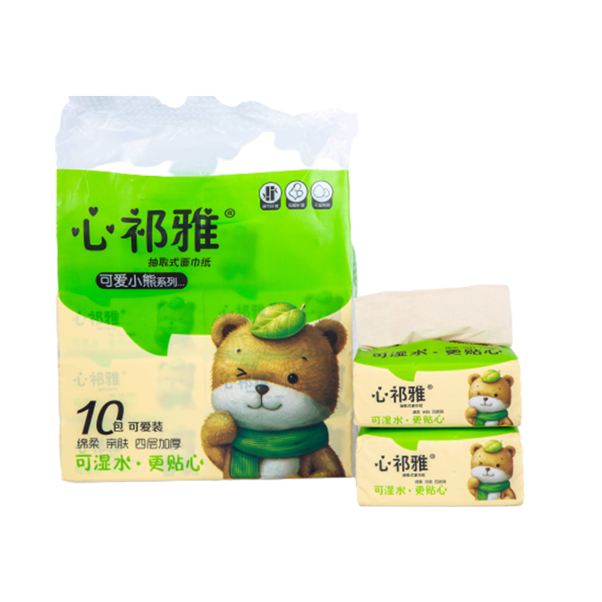 Wholesale Prices Bamboo Facial Tissue Paper with 2/3/4 Ply 100/150 Sheets
